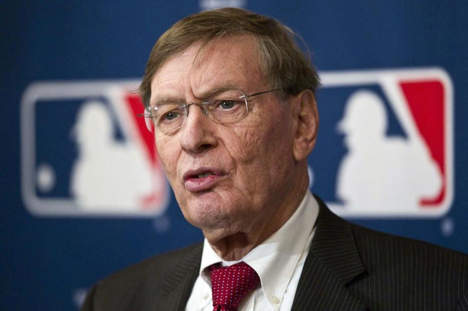 During a conference call, commissioner Bud Selig said that with the three deals, MLB will be paid a combined $12.4 billion over eight years beginning in 2014.