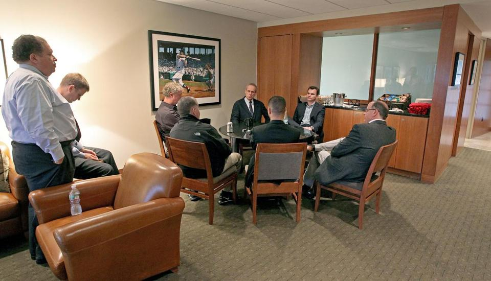 Larry Lucchino and Ben Cherington met with reporters on Thursday afternoon.