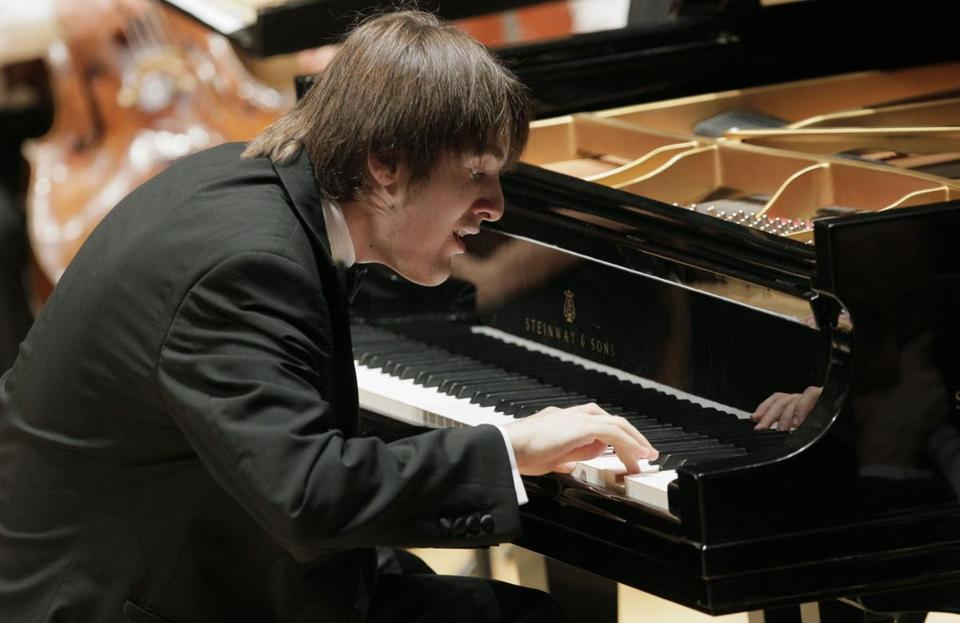 Daniil Trifonov (shown at the Tchaikovsky competition in Russia last year) made his Celebrity Series debut Friday.
