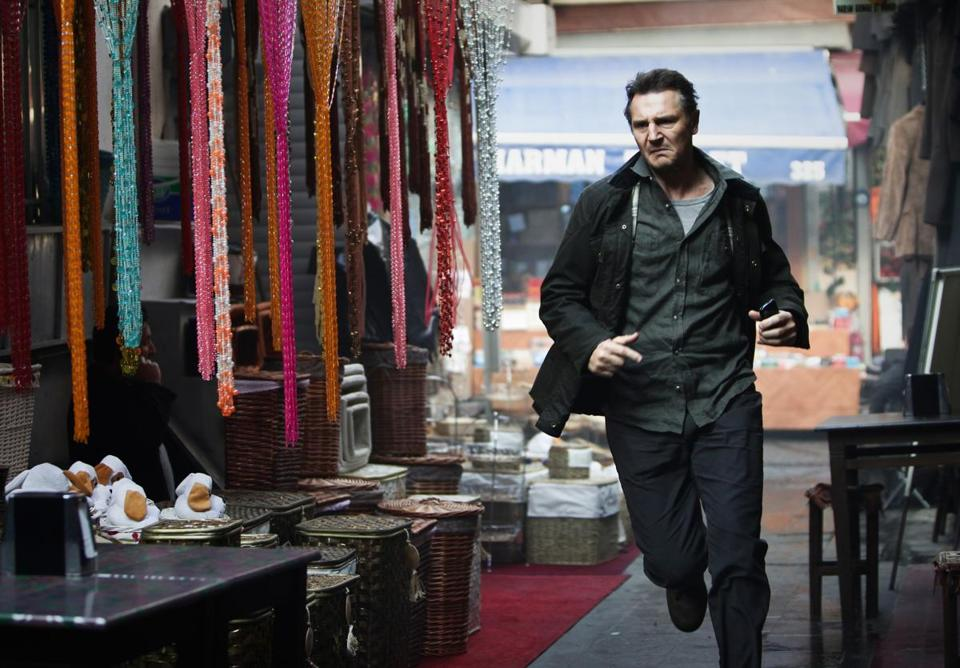 "Liam Neeson stars in the thriller sequel ""Taken 2."""