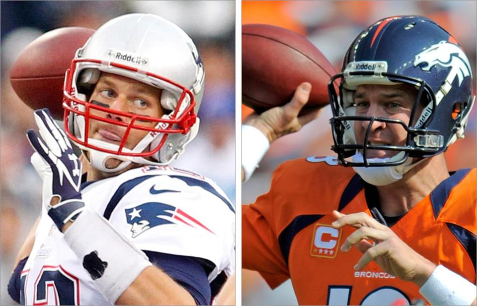 Tom Brady and Peyton Manning, the two preeminent passers of their generation, will face off again Sunday.