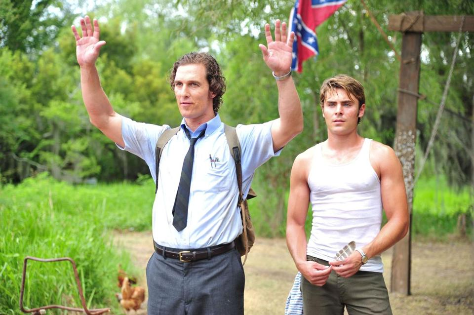 "Matthew McConaughey (left) and Zac Efron in ""The Paperboy."""