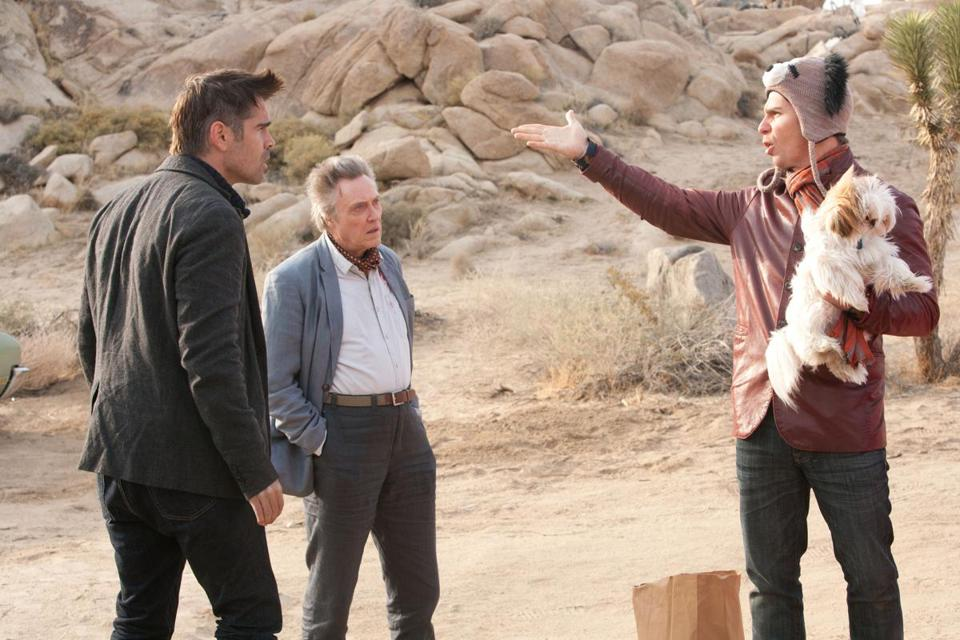 "From left: Colin Farrell, Christopher Walken, and Sam Rockwell in ""Seven Psychopaths."""