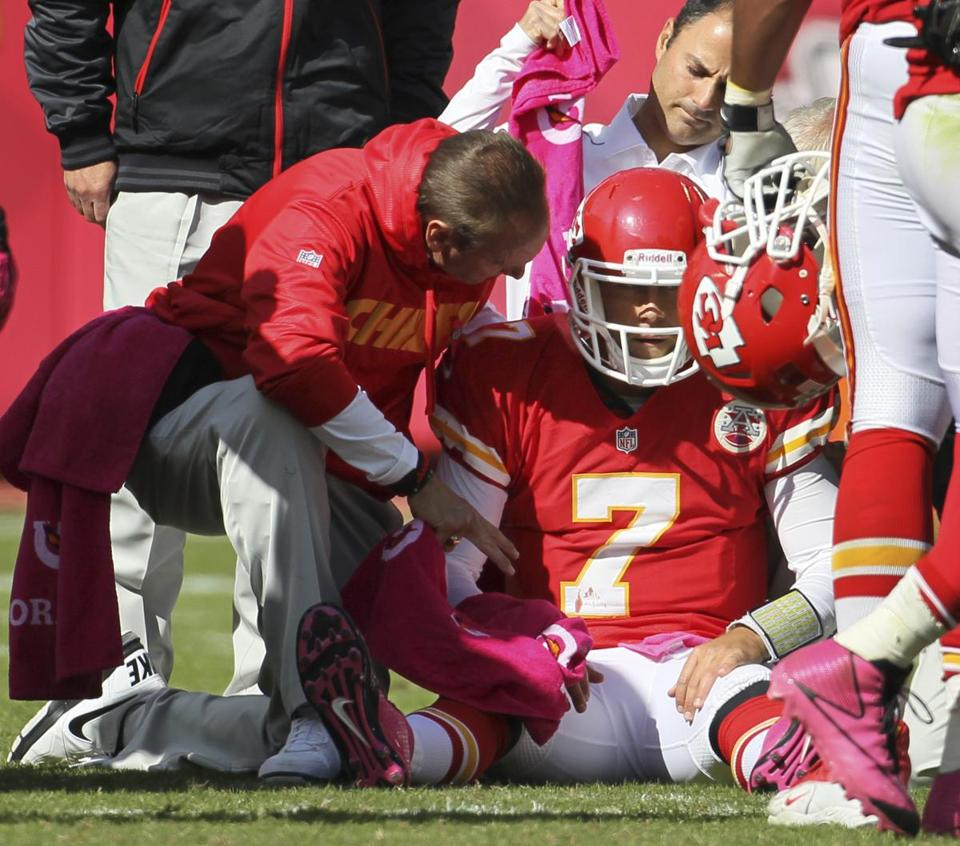 Some Chiefs fans kicked quarterback Matt Cassel when he was down Sunday.