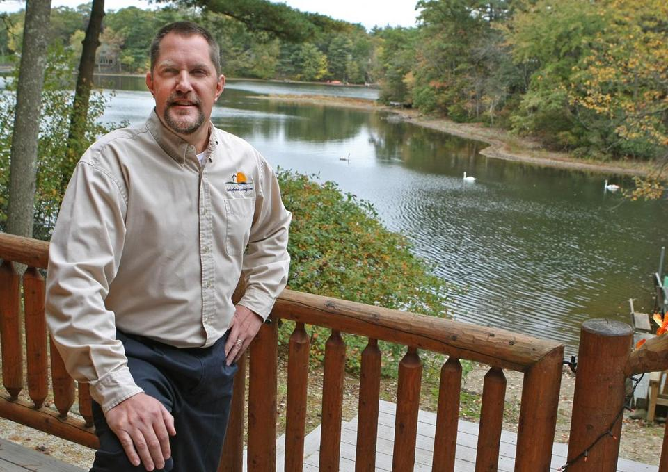 Scott Freerksen has inspiration right outside his home office on Bungay Lake in Mansfield.