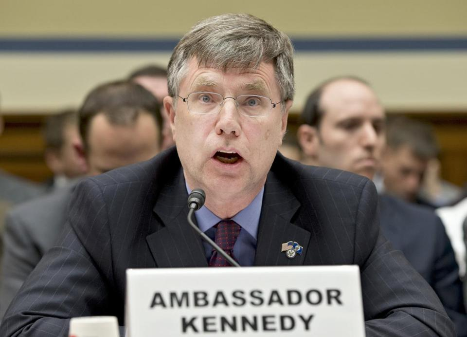 Patrick Kennedy, an under secretary of state, testified about consular security before a House panel Wednesday.
