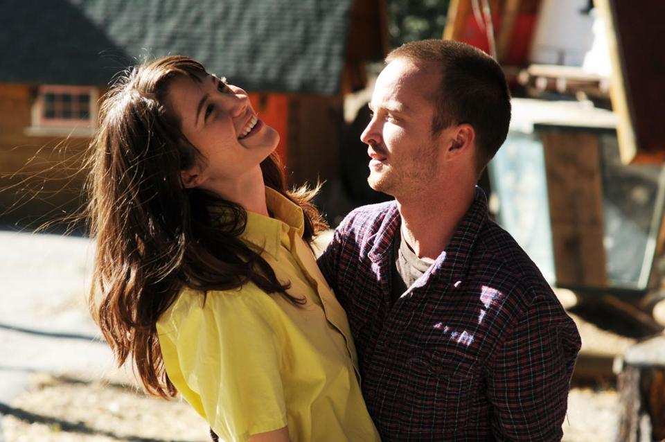 "Mary Elizabeth Winstead and Aaron Paul play an alcoholic couple in ""Smashed."""