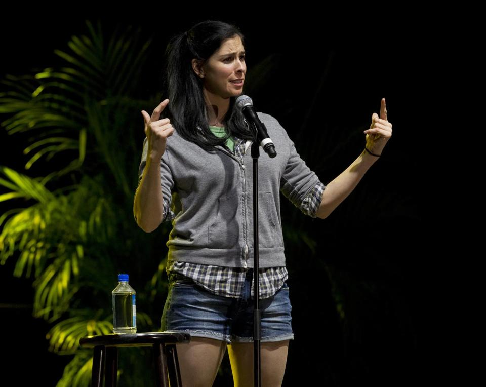 Sarah Silverman performing at Matthews Arena.