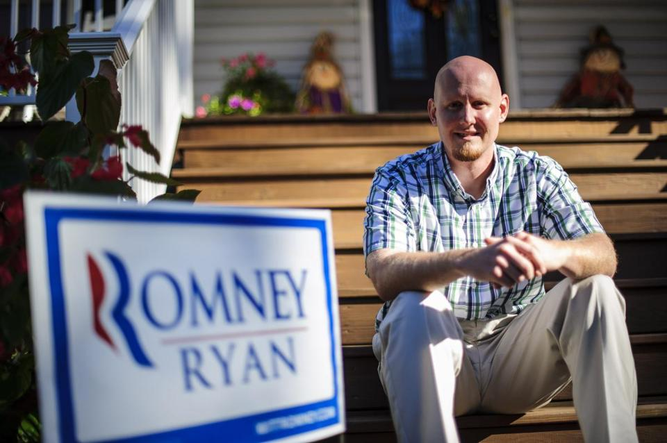 """Mitt Romney is not someone I would have picked, that's for sure,"" says D.J. Moberley, a 30-year-old evangelical Christian who now spends hours chatting up Romney."