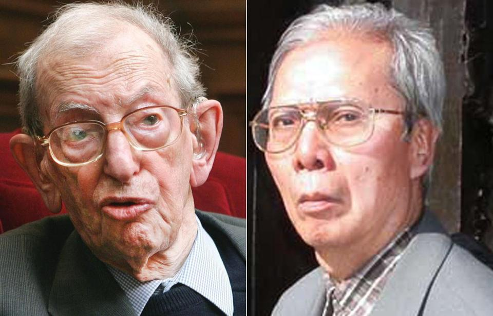 Nguyen Chi Thien, right, spent his life fighting communism. Eric Hobsbawm, left, spent his life as a communist supporter.