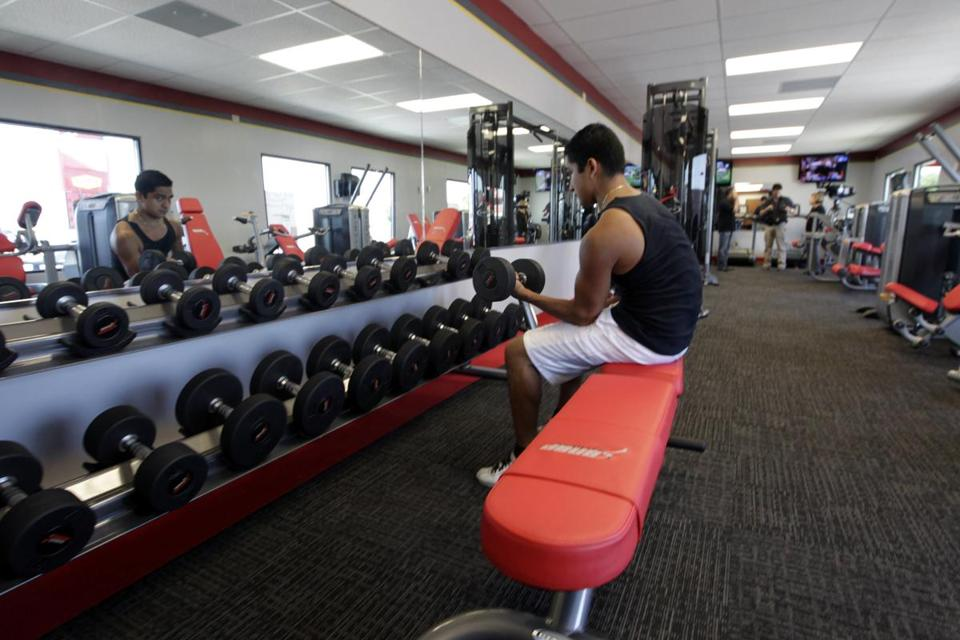 A customer exercised at a Snap Fitness Rolling Strong Gym at a Dallas truck stop. There are plans for more locations.
