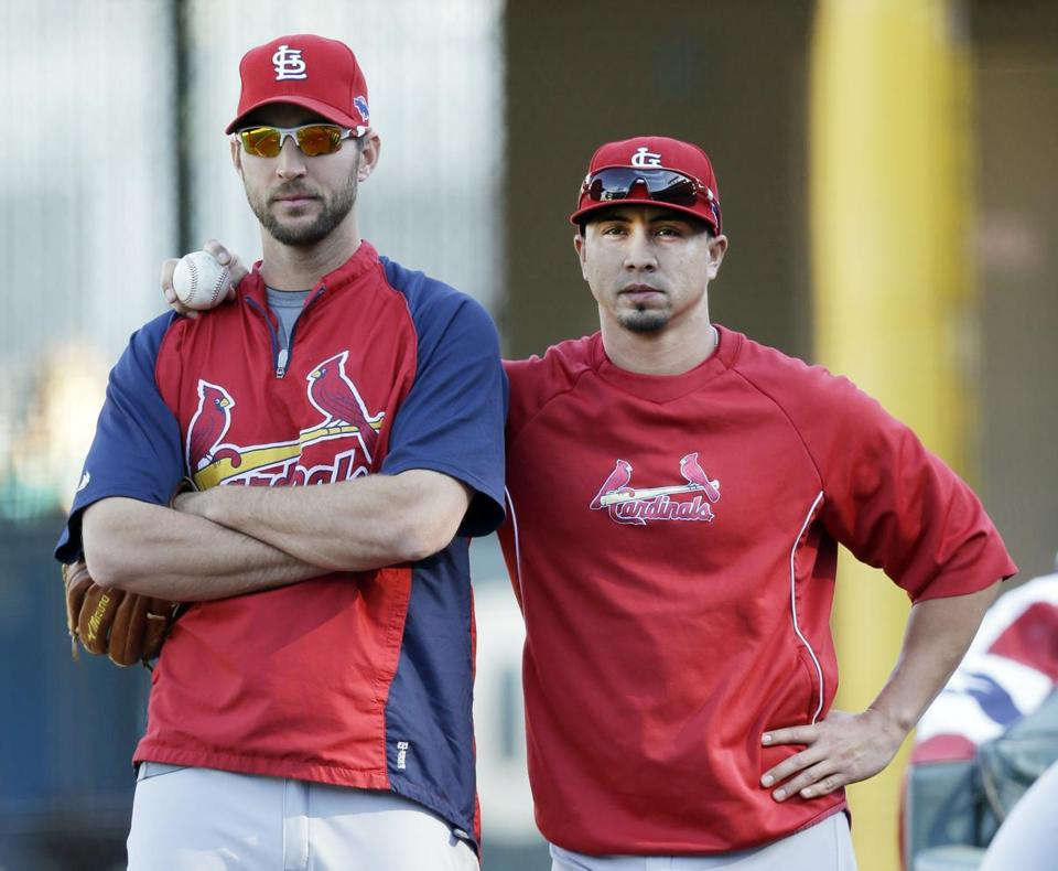 Adam Wainwright (left) and Kyle Lohse have the Cardinals armed to take on the Giants in the NLCS.