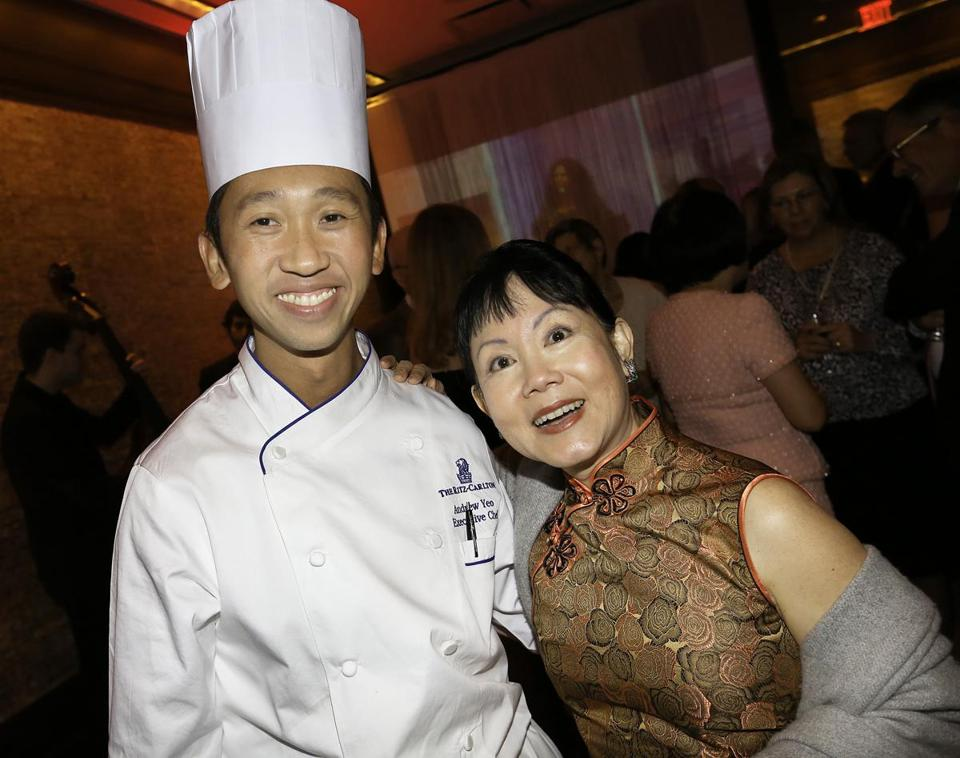 Ritz-Carlton executive chef Andew Yeo and librettist Cerise Jacobs.