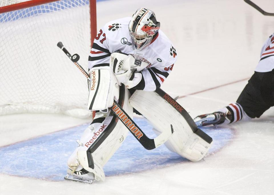 It was a rough start to the season for goaltender Chris Rawlings and Northeastern.
