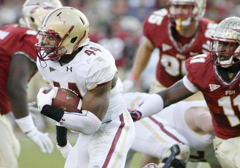 Andre Williams was one of the few bright spots for Boston College Saturday; he piled up 104 yards rushing.