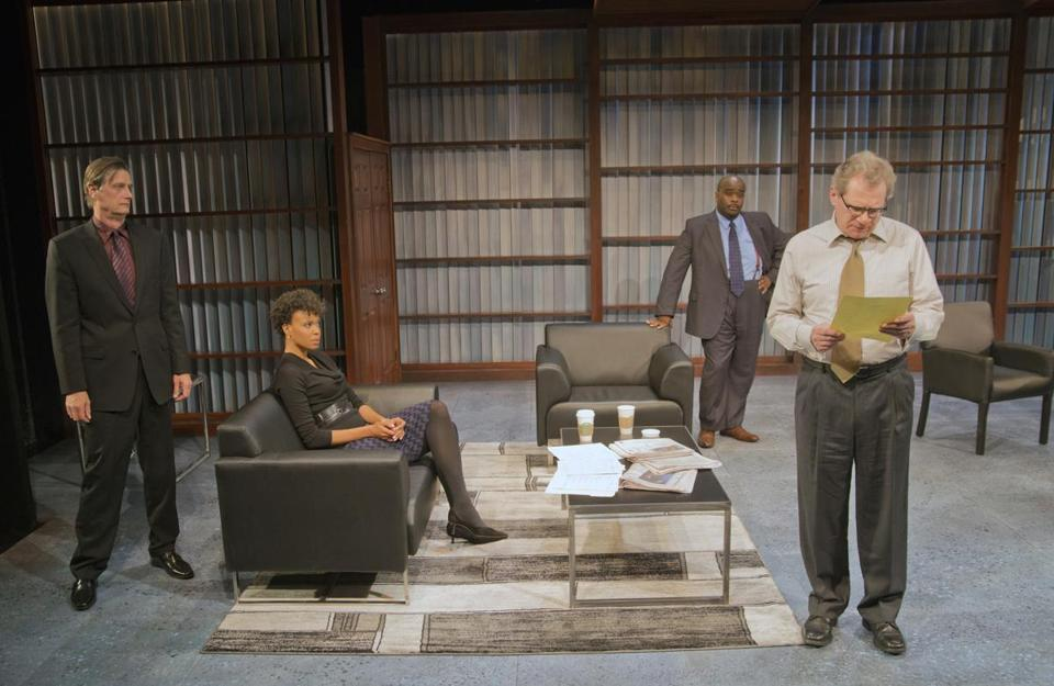 "From left: Ken Cheeseman, Miranda Craigwell, Cliff Odle, and Patrick Shea comprise the four-person cast of ""Race."""