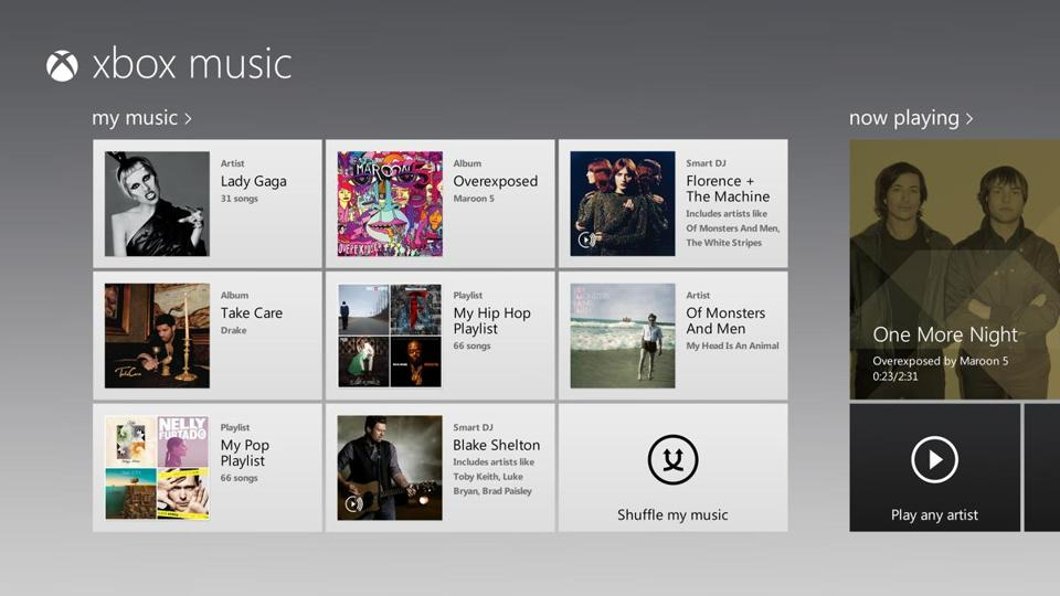 Microsoft's new Xbox Music service will combine the listening options of popular music apps like Spotify, Pandora, and iTunes.