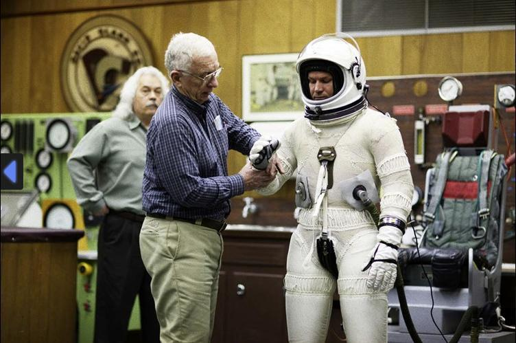 Workers at the David Clark Co. in Worcester helped Felix Baumgartner test his pressurized suit in January 2009.
