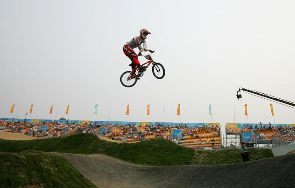 Kyle Bennett, shown doing a bar twist in 2007, won an automatic spot on the first US BMX Olympic team in 2008.