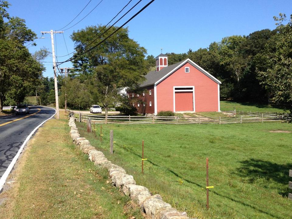 Parts of the route a bicyclist can take through rolling hilly Dover and Sherborn are mindful of Vermont farmland.