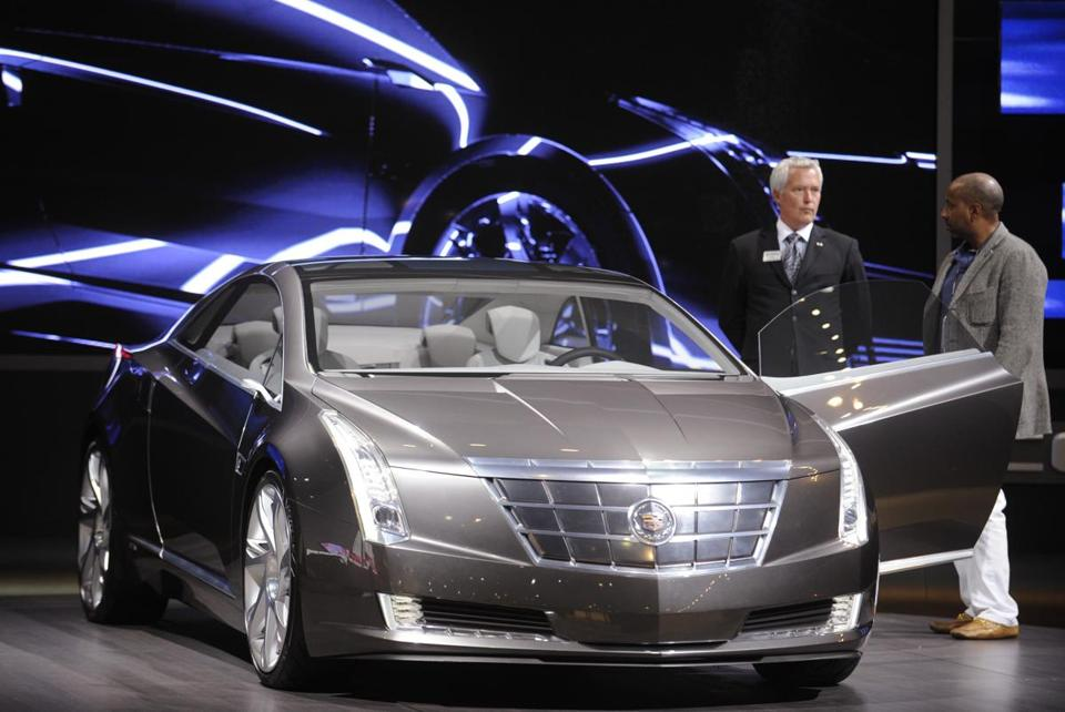 The Cadillac Converj Concept, shown at the Los Angeles Auto Show in 2009, is the basis of the ELR.