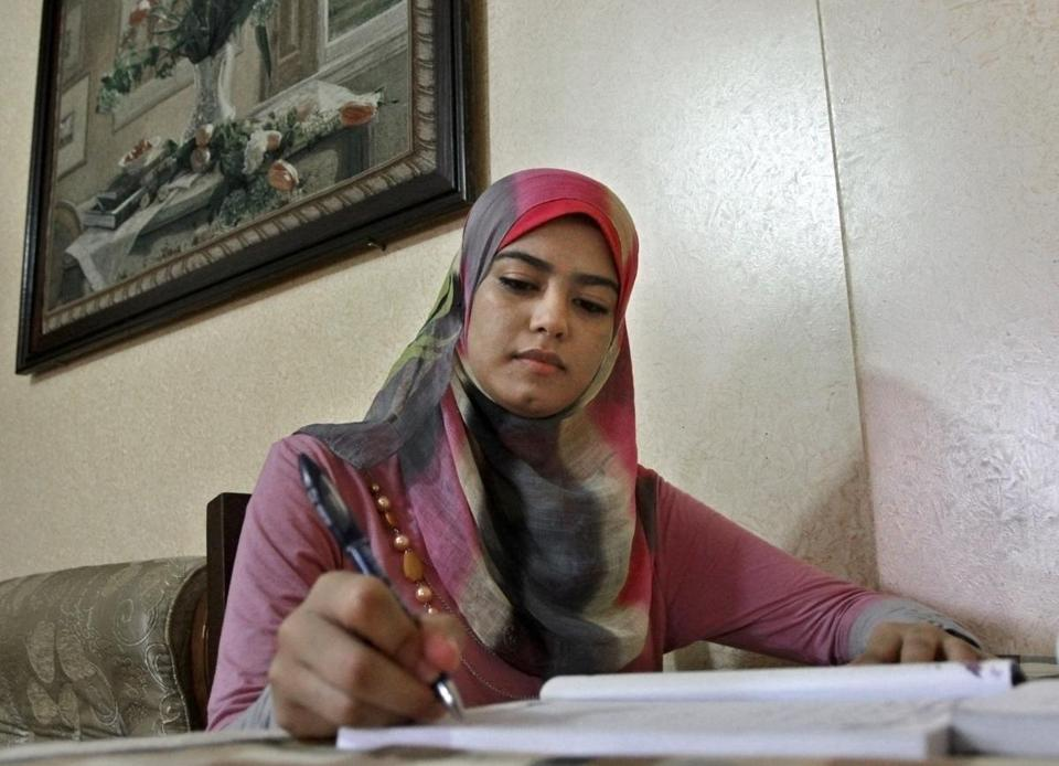 Amal Ashour, 18, had planned to study English literature this fall through a US-sponsored program.