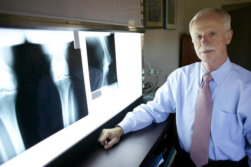 Dr. John Richmond, chairman of the Department of Orthopedic Surgery at New England Baptist Hospital, says there is no current treatment to slow osteoarthritis. Some patients choose pain management — medication or a brace — which are short-term solutions to delay knee replacement surgery.