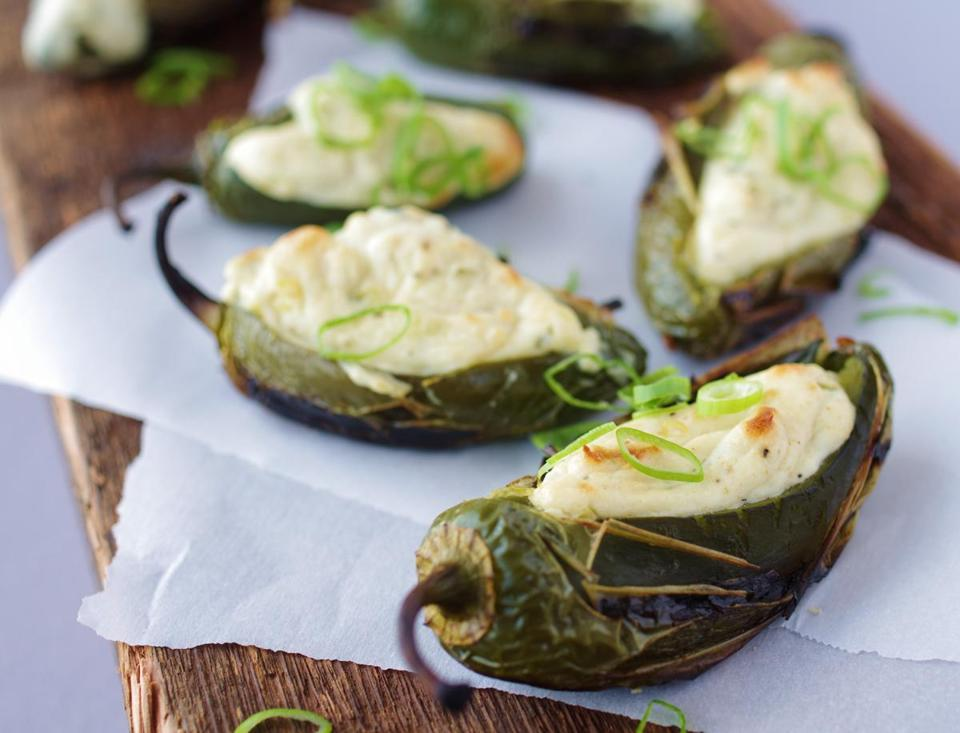 Grilled jalapeno poppers.