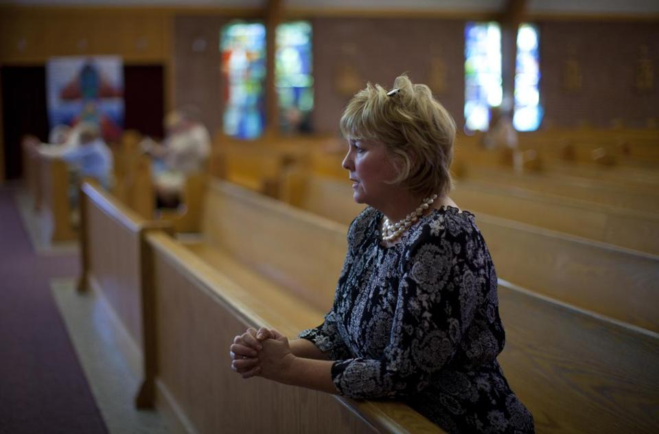Maryellen Rogers is one of the parishioners of St. Frances X. Cabrini in Scituate who have kept up a vigil at the church since 2004, maintaining the building and grounds and holding services.