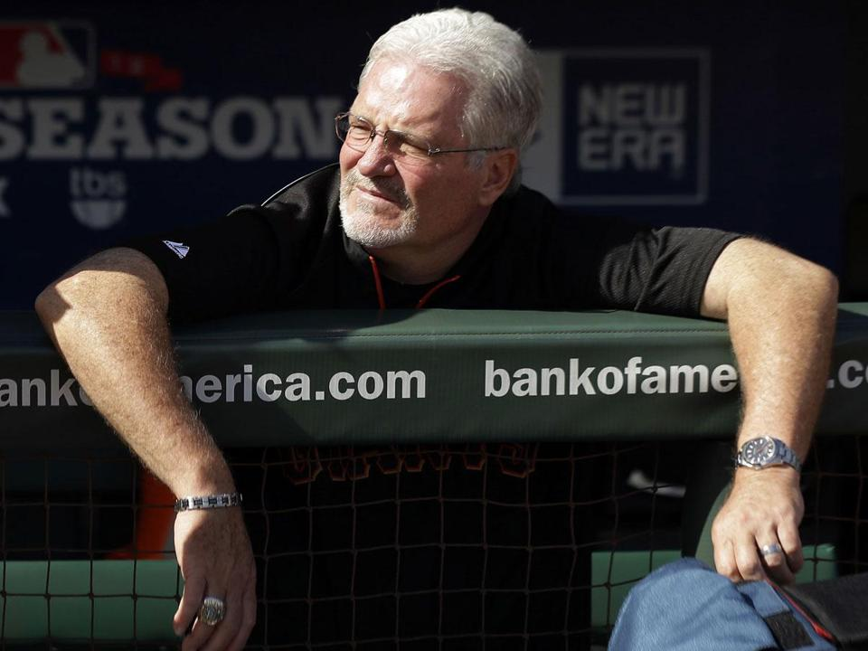 Brian Sabean's team is back in the NLCS, against the St. Louis Cardinals.
