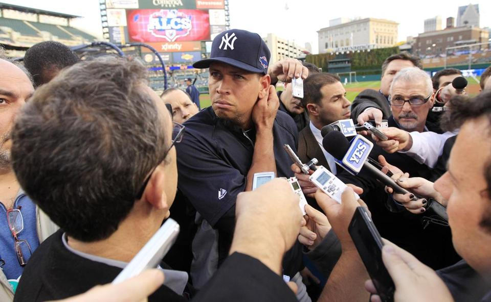 Alex Rodriguez has been relegated to the bench for much of the Yankees' playoff run.