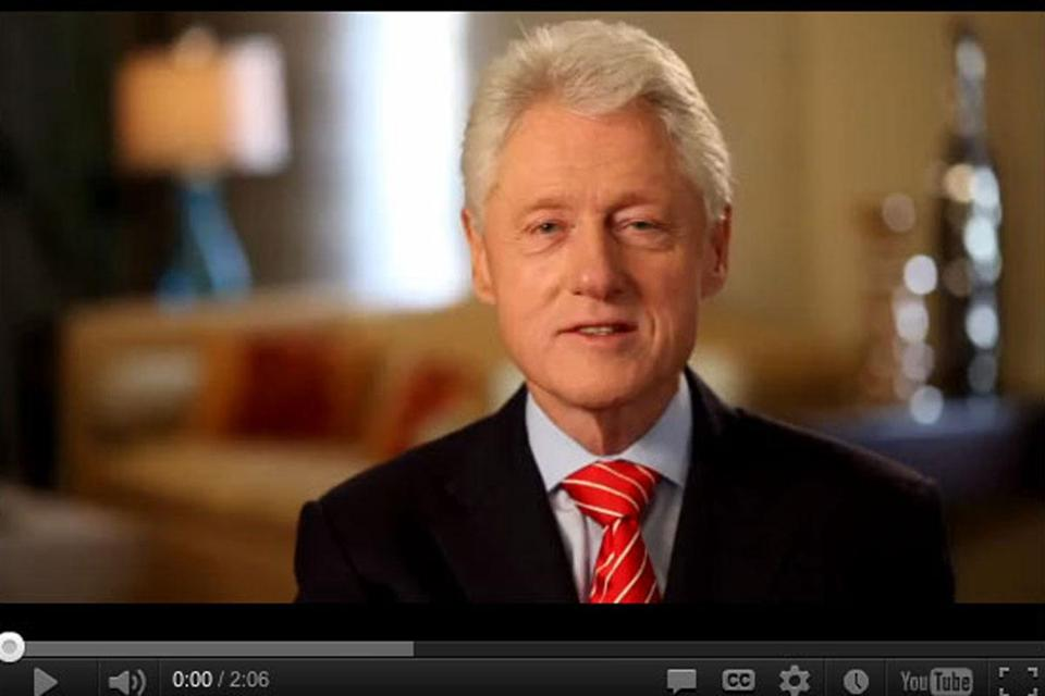 Former President Bill Clinton is featured in an ad for President Obama.