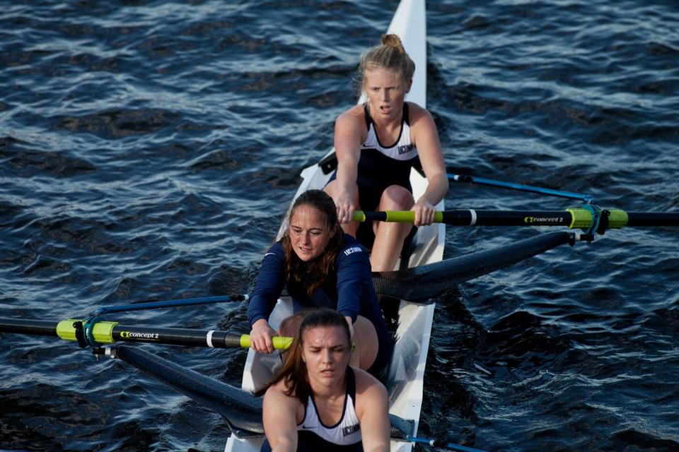 The University of Connecticut women's boat was in form during Sunday's Head of the Charles Regatta.