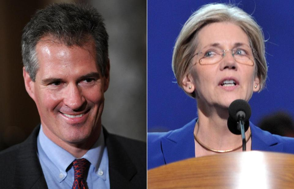 In new ads, Senator Scott Brown's campaign highlighted his bipartisan appeal, while Elizabeth Warren's said GOP control of the Senate could result in deep Medicare cuts.