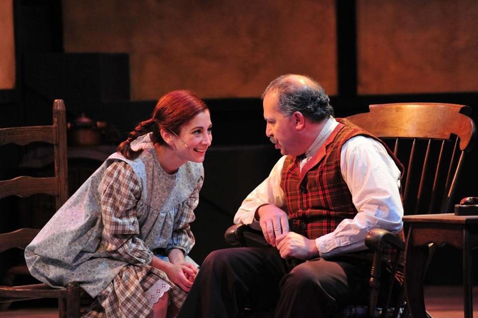 "Jennifer Beth Glick stars as Anne and Robert Saoud stars as Matthew Cuthbert in Wheelock Family Theatre's production of ""Anne of Green Gables."""