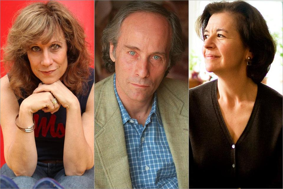 (Left to right) Lizz Winstead, Richard Ford, and Joan Wickersham will all be featured at this year's Boston Book Festival.