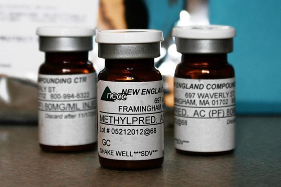Steroids laced with meningitis distributed by New England Compounding Center  have killed 32 people.