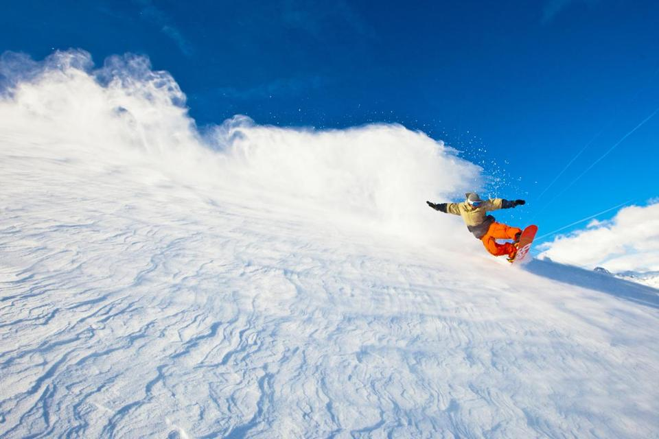 Mammoth Mountain in California's Eastern Sierra is a magnet for snowboarders with its nine terrain parks.