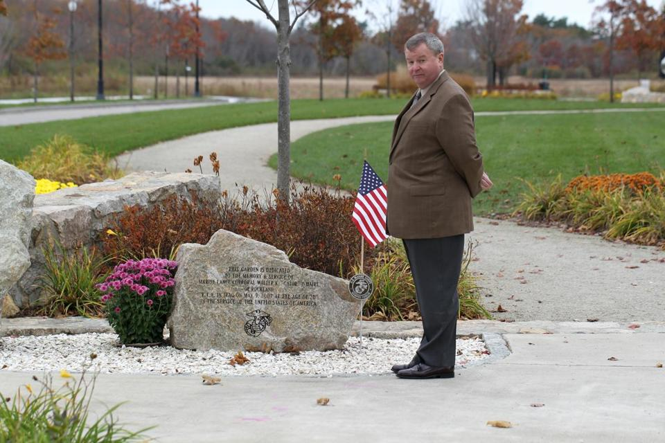 Kevin Donovan, CEO of the Tri-Town Development Corp., led efforts to place memorial gardens in the development.