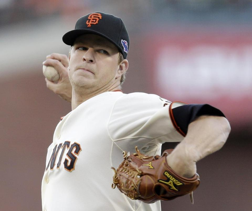 The Giants used up their ace, Matt Cain (above), for Game 7 of the National League Championship Series and they're starting Barry Zito in Game 1 Wednesday.