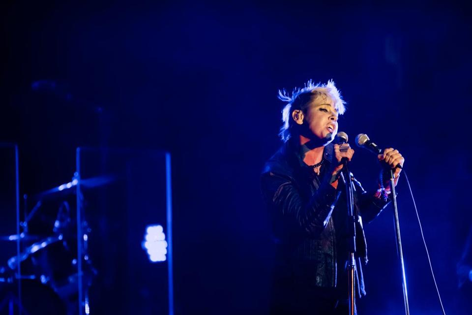 Chan Marshall as Cat Power performing in New York earlier this week.