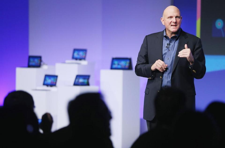 "Microsoft chief executive Steve Ballmer said Thursday that ""Windows 8 shatters perceptions of what a PC is now."""