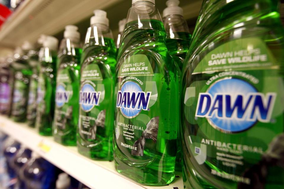 In addition to Dawn, P&G's products include Charmin and Boston-based Gillette.