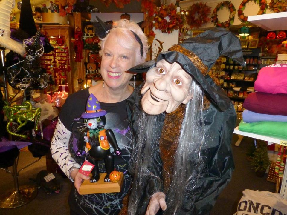 Marie Foley relishes ghoulish goods at her Concord Hand Designs in Concord.