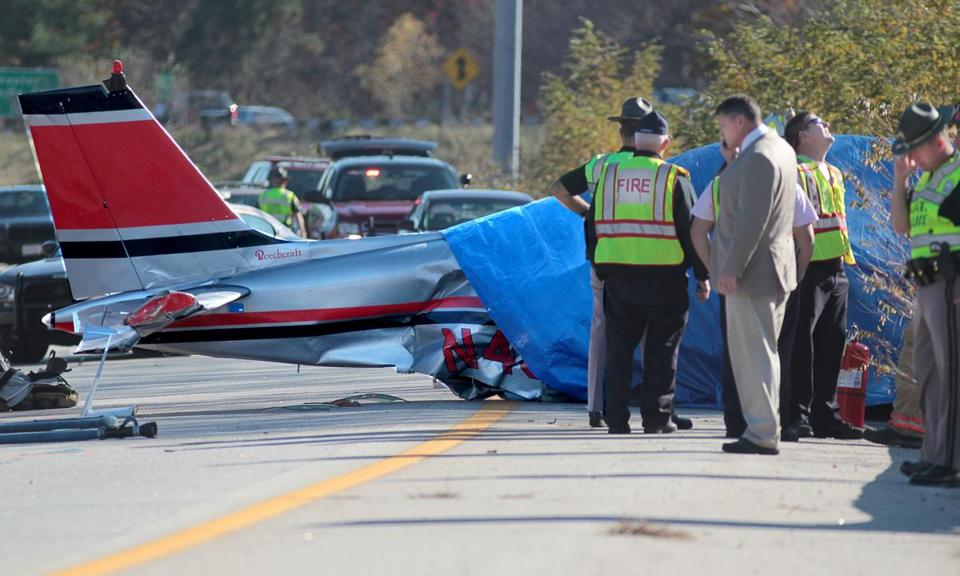 A small plane crashed on I-93 near Hooksett, New Hampshire.