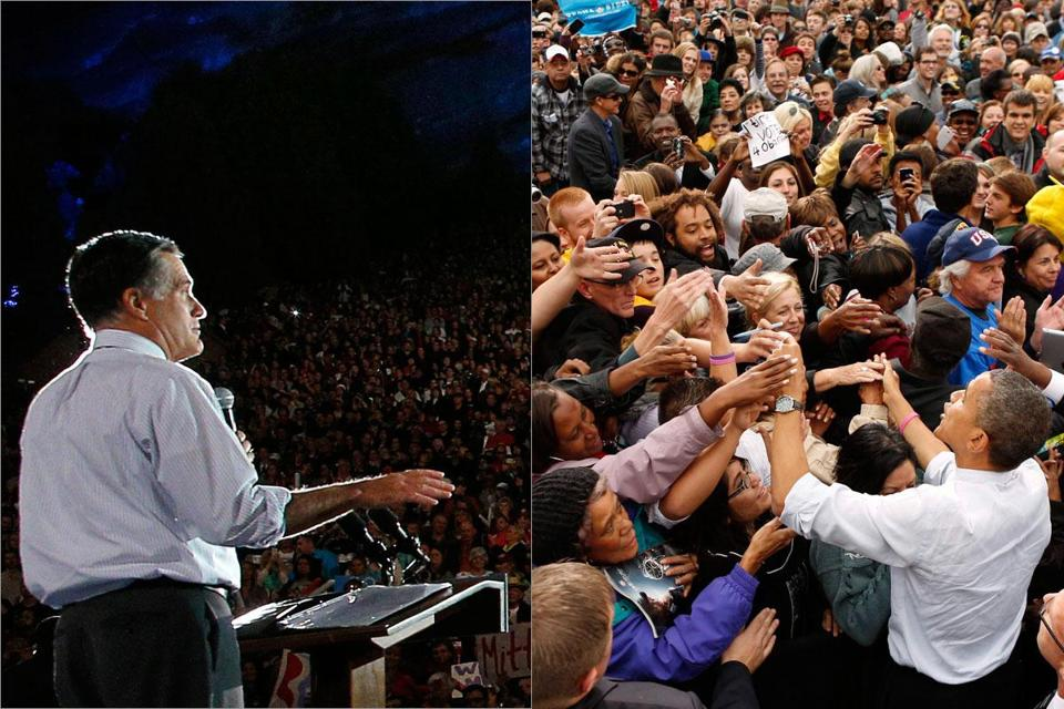 Mitt Romney's rally was held at the Red Rocks Amphitheater in, Morrison, Colo., while President Obama's took place at Meadow at City Park, in Denver.