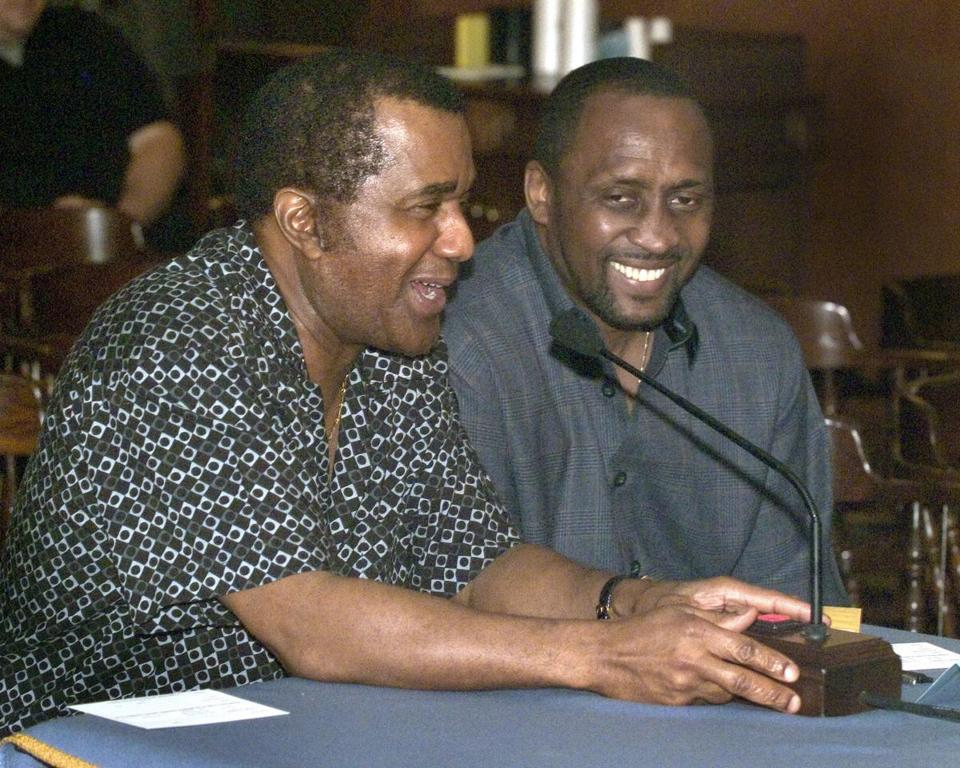 "Emanuel Steward (left) and Tommy ""Hitman"" Hearns testified in 2004 on boxing reform."