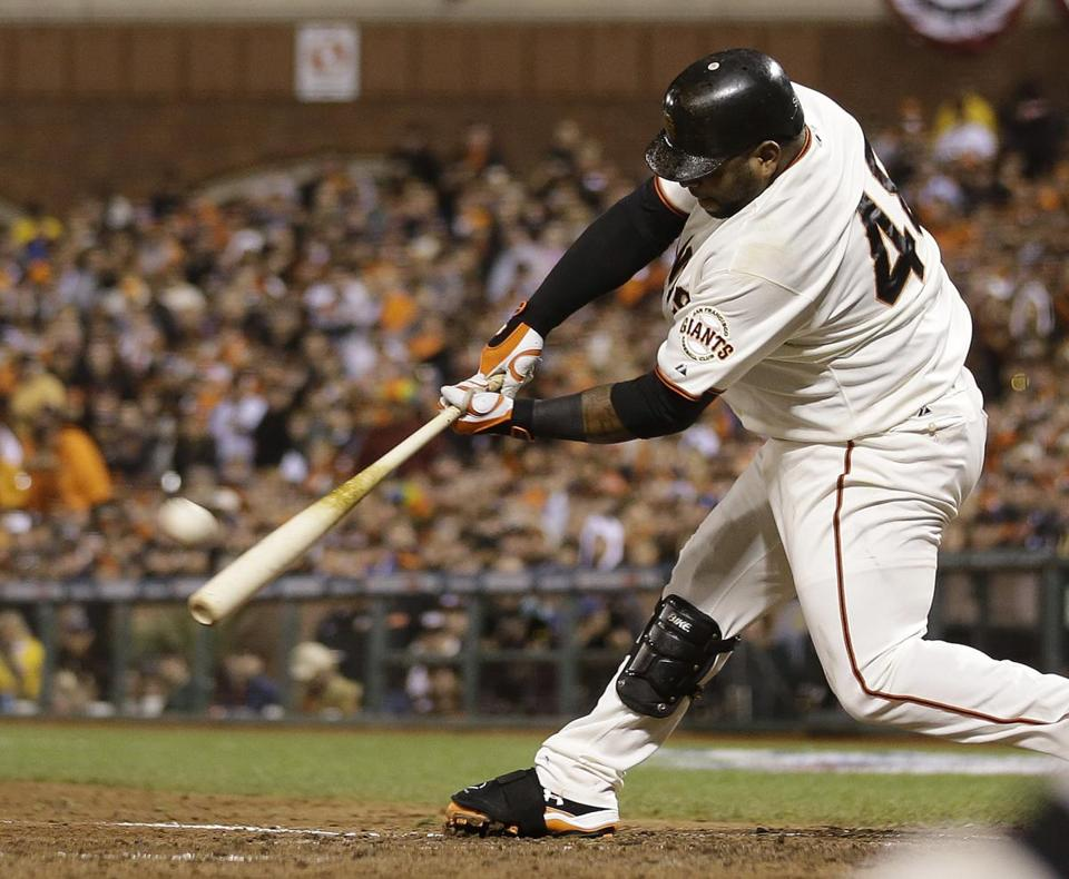 Pablo Sandoval hit his third home run of the game in the fifth inning.