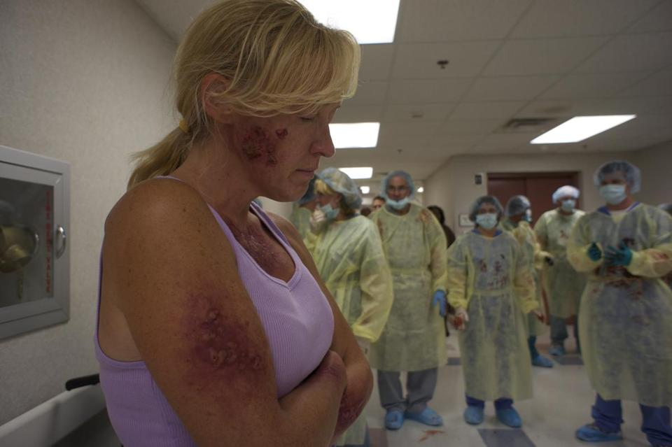 "Jane McNeill in Barry Levinson's ""The Bay,"" a found-footage fake documentary about a flesh-eating virus."