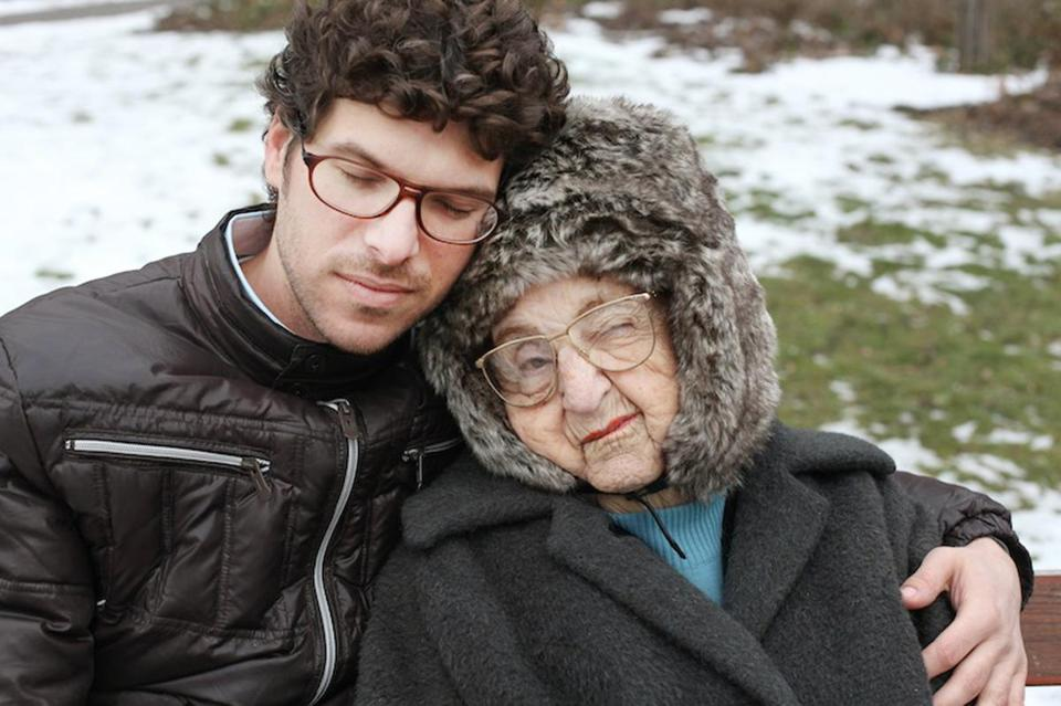 "Ben Peter and his grandmother Miriam in Tamar Tal's ""Life in Stills,"" being screened at Coolidge Corner Theatre on the opening night of the 24th Boston Jewish Film Festival."